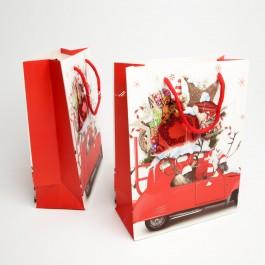 Новорічні пакети 3D 12 шт. (24 x 18 x 8 см.) 5-6961