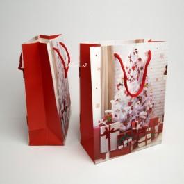 Новорічні пакети 3D 12 шт. (24 x 18 x 8 см.) 5-6960