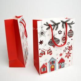 Новорічні пакети 12 шт. (24 x 18 x 8 см.) 5-6959