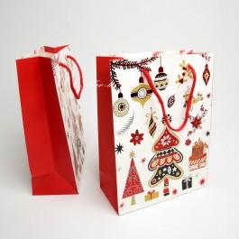 Новорічні пакети 12 шт. (24 x 18 x 8 см.) 5-6958