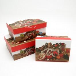 Коробки новорічні 3 шт. 5-1016