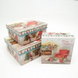 Коробки новорічні 3 шт. 5-1012
