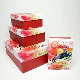 Коробки новорічні 4 шт. 5-0839