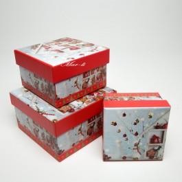 Коробки новорічні 3 шт. 5-0830