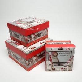 Коробки новорічні 3 шт. 5-0829