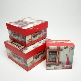 Коробки новорічні 3 шт. 5-0828