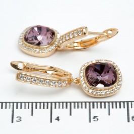 """Сережки XUPING Gold """"фіолетово-малиновий"""" 511692"""