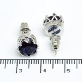 """Сережки XUPING Silver """"синій"""" (Ø 0.9 см.) 511542"""