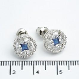 """Сережки XUPING Silver """"синій"""" (Ø 1 см.) 511540"""