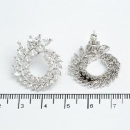 Сережки джекети XUPING Silver (Ø 2.5 х 1.3 см.) 511528