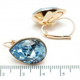 Сережки XUPING Gold (голубой) 509706