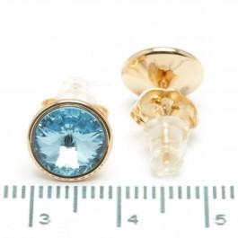 Сережки XUPING Gold (голубой) 509312