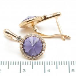 Сережки XUPING Gold (фиолетовый) 509307