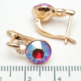 Сережки XUPING Gold (перламутровый с красным) 509293