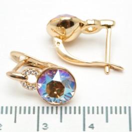 Сережки XUPING Gold (перламутровый с коричневым) 509292