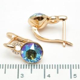 Сережки XUPING Gold (перламутровый с зелёным) 509291