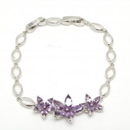 "Браслет XUPING Silver ""фиолетовый"" (18 + 2 х 0.5 см.) 204371"