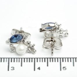 """Сережки XUPING Silver """"синій"""" 205729"""