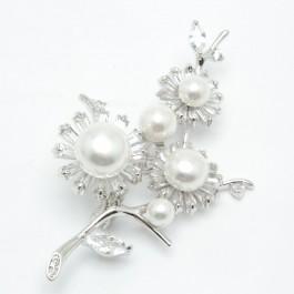 Брошки XUPING Silver (6 х 3.5 см.) 203779