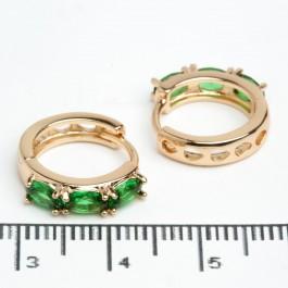 """Сережки XUPING Gold """"зелений"""" 512264"""
