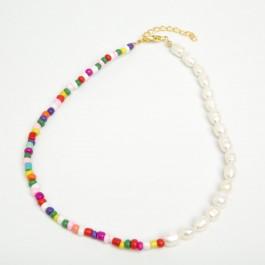 Чокер з річкових перлин (35 + 5 см.) 6-0454