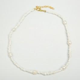 Чокер з річкових перлин (35 + 5 см.) 6-0453