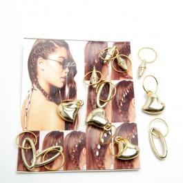 Пірсинг для волосся 12 шт. 6-0294