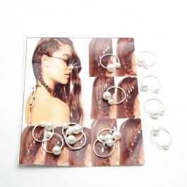 Пірсинг для волосся 12 шт. (Ø 1.4 см.) 6-0293