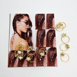 Пірсинг для волосся 12 шт. (1.8 х 1.4 см.) 5-9076