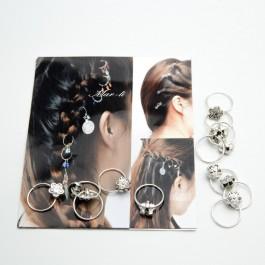 Пирсинг для волос 12 шт. (1.8 х 1.4 см.) 5-7446