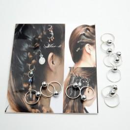 Пірсинг для волосся 12 шт. (1.6 х 1.4 см.) 5-7445