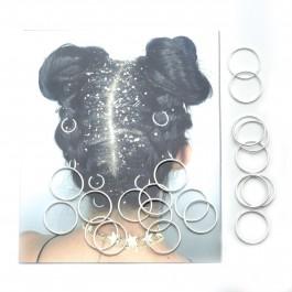 Пірсинг для волосся 20 шт. (Ø 1.4 см.) 5-6496